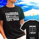 Takumi Fujiwara Tofu Shop Delivery Initial D HachiRoku 86 black t-shirt tshirt shirts tee SIZE S