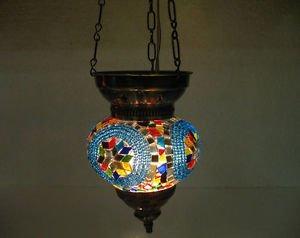 Moroccan lantern mosaic hanging lamp glass chandelier light lampe mosaiqe hng 73