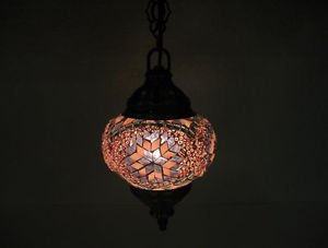 Electrical purple mosaic hanging lamp glass candle holder lampe mosaique hg 87