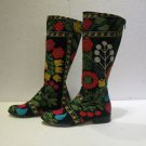 Suzani boots handmade shoes embroidery shoes Turkoman boots velvet shoes 3