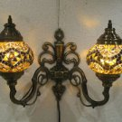 Yellow mosaic glass sconce lamp wall light lampe mosaique electric wall candle 7