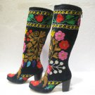 Suzani boots handmade shoes embroidery shoes Turkoman boots velvet shoes 28