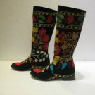 Suzani boots handmade embroidery shoes Turkoman boots velvet shoes 18