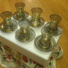 GOLD plated turkish tea set glasses ottoman cups glass mug hot tea glasses 02