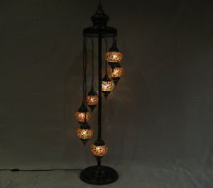 Moroccan lantern mosaic floor lamp glass chandelier light lampe mosaiqe yer 20