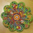 Hand made tile ceramic Pottery trivet for hot pots decoration or tea pots _ n 10