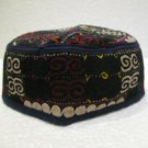 Antique turkoman super fine embroidery hat turkish beret collecion hat natural 9