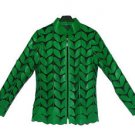 Transparent Green soft lamb leather shirt made in turkey jaket Leder hemd