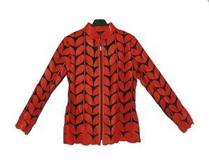 Transparent RED soft lamb leather shirt made in turkey jaket Leder hemd