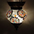 Moroccan lantern mosaic hanging lamp glass chandelier light lampe mosaiqe hng 44
