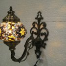 Yellow mosaic glass sconce lamp wall light lampe mosaique electric wall candle 1
