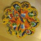 Hand made tile ceramic Pottery trivet for hot pots decoration or tea pots _ n 8