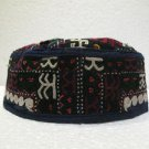 Antique asian fine embroidery hat turkish beret collecion hat vegetable dyes 15