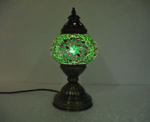 Green mosaic glass table lamp tischlampe moroccan lantern lampe mosaique 39