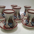 Lead free ceramic tea cup turkish tea set tea glasses ceramic glasses n 60