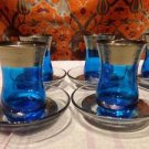 Turkish tea set tea glasses ottoman cups glass mug hot tea glasses tribal set 10