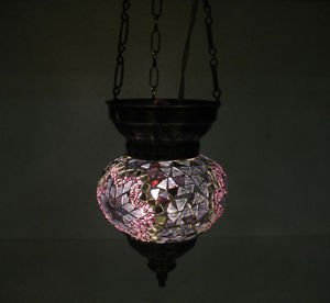 Moroccan lantern mosaic hanging lamp glass chandelier light lampe mosaiqe hng 41