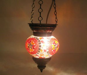 moroccan lantern mosaic hanging lamp glass chandelier light lampe mosaique 139