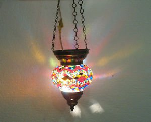 moroccan lantern mosaic hanging lamp glass chandelier light lampe mosaique 138