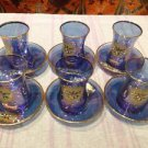 Turkish tea set tea glasses ottoman cups glass mug hot tea glasses tribal set 43