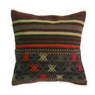 Antique Decorative Couch Throw Pillow Turkish Kilim Rustic Cushion 16'' (y057)