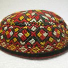 Antique asian fine embroidery hat turkish beret collecion hat vegetable dyes 18
