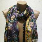 100 % silk scarf shawl vintage silk scarf handmade scarf soft light scarf m 11