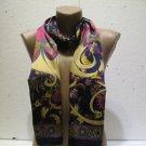 100 % silk scarf shawl vintage silk scarf handmade scarf soft light scarf m 6