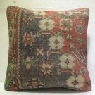 Antique patchwork kelim kissen sofa throw pillow cover tribal rug cushion 38