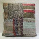 Antique patchwork kelim kissen sofa throw pillow cover tribal rug cushion 24