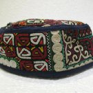 Antique turkoman super fine embroidery hat turkish beret collecion hat natural 7