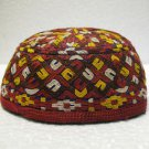 Antique asian fine embroidery hat turkish beret collecion hat vegetable dyes 26