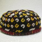 Antique asian fine embroidery hat turkish beret collecion hat vegetable dyes 17