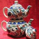 Handmade lead free Ottoman iznik turkish tea pot collectible turkish ceramic 1