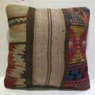 Antique Decorative Couch Throw Pillow Turkish Kilim Rustic Cushion 18'' (7)