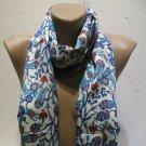 100 % silk scarf shawl vintage silk scarf handmade scarf soft light scarf m 1