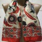 100 % silk scarf shawl vintage silk scarf handmade scarf soft light scarf n 6