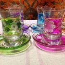 Turkish tea set tea glasses ottoman cups glass mug hot tea glasses tribal set 9