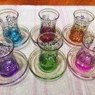 Turkish tea set tea glasses ottoman cups glass mug hot tea glasses tribal set 57