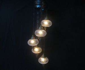 5 ball moroccan lantern glass light chandelier turkish lamp candle lampen 172