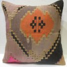 Antique Patchwork Couch Pillow kilim coushin housse de coussin kelim kissen h 29