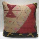 Antique Patchwork Couch Pillow kilim coushin housse de coussin kelim kissen h 33
