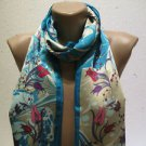 100 % silk scarf shawl vintage silk scarf handmade scarf soft light scarf m 44