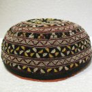 Antique asian fine embroidery hat turkish beret collecion hat vegetable dyes 19