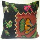 Antique Patchwork Couch Pillow kilim coushin housse de coussin kelim kissen h 28