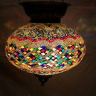 Moroccan mosaic hanging lamp glass chandelier light lampen handmade candle h 040