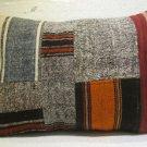 Antique patchwork kelim kissen sofa throw pillow cover tribal rug cushion 42