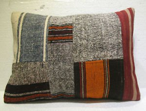 Antique patchwork kelim kissen sofa throw pillow cover tribal rug cushion 42