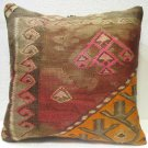 Antique w hole Couch Pillow kilim coushin housse de coussin kelim kissen h 30