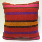 Antique nomadic kelim kissen sofa throw pillow cover tribal rug cushion 61